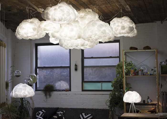 Richard clarkson cloud shade darc magazine a lamp shade designed to mimic the shape and texture of a cloud comes with vita installation hardware pendant floor stand or desk stand in either black mozeypictures Images
